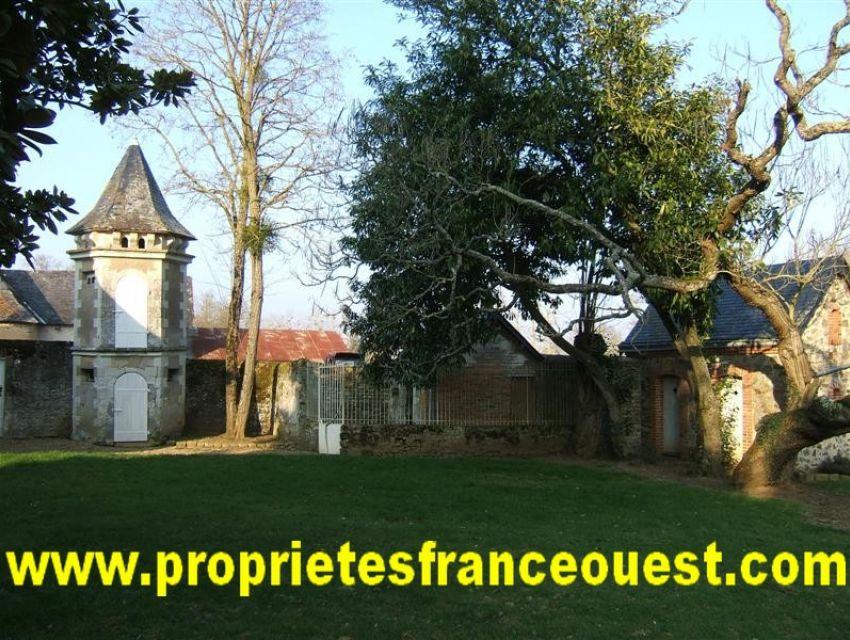 immobilier Sarthe (72300) vue du parc. Château XVIIème
