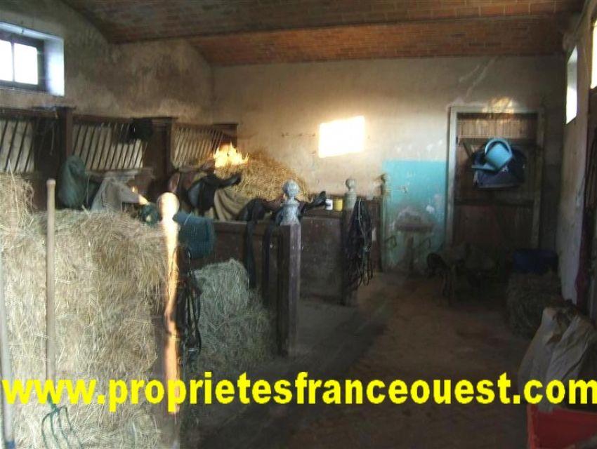 Propriété XVIIème - Pays de Loire - Sarthe - Stalles et écuries XVIIème et XVIIIème immobilier Sarthe (72):7. Ecuries.