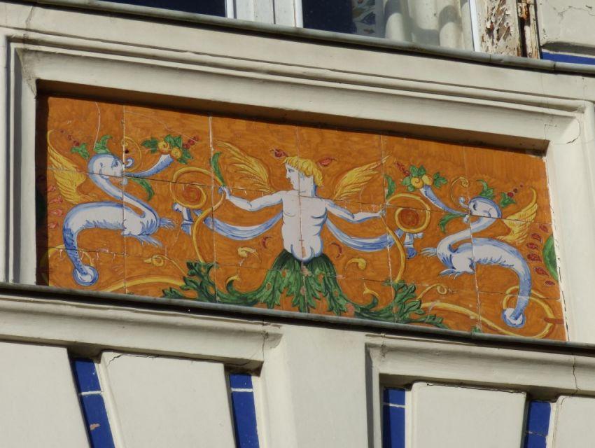 Authentique maison de caractère XIXème avec tableaux faïencés en façade